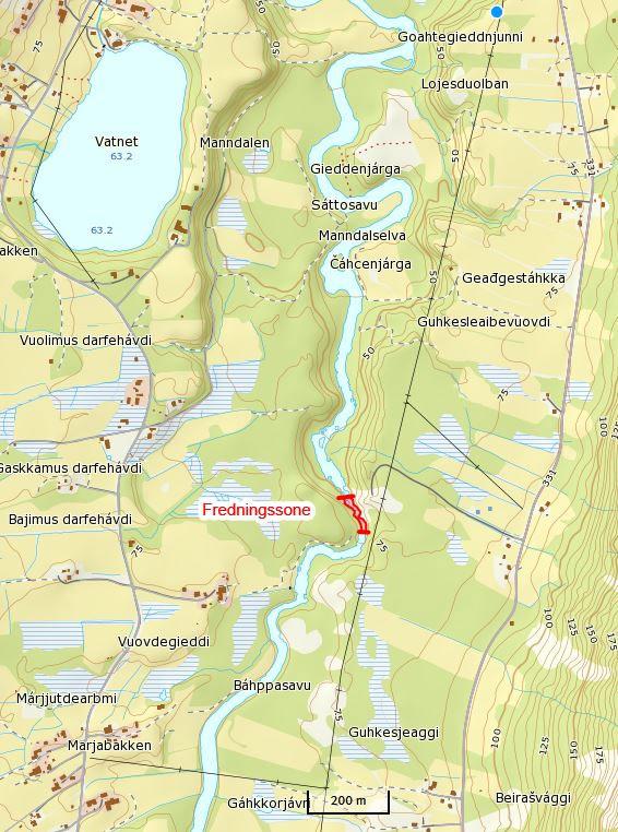 Kart Manndalen Jeger Og Fiskerforening
